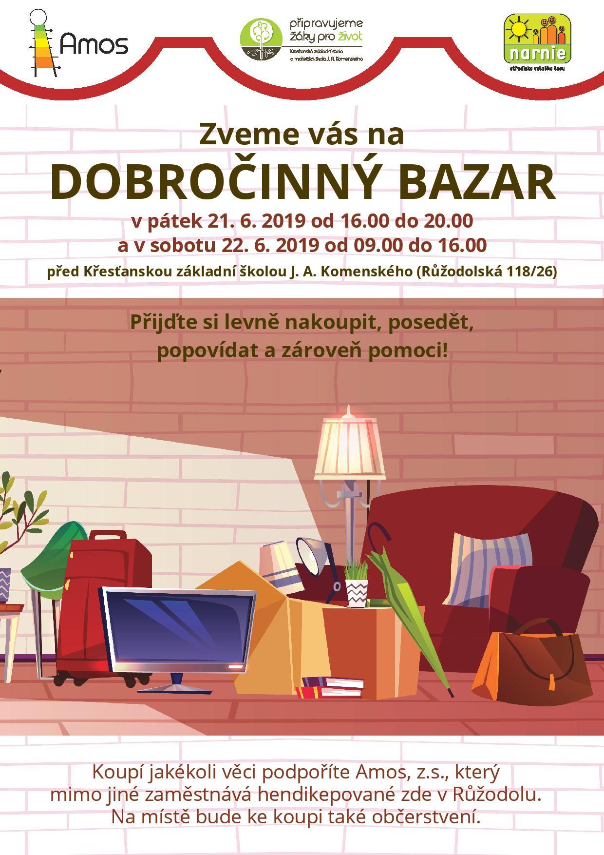 Pozvánka na dobročinný bazar